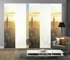 Tendine scorrevoli 5er Set, STAMPA DIGITALE SKYLINE NEW YORK