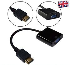 1080P HDMI Male to VGA  FEMALE Video Converter Adapter for DVD HDTV PC - UK