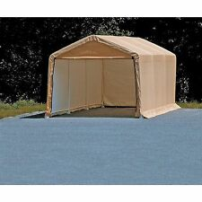 Portable Auto Storage Shelter Tan Car Canopy 10 ft x 20 ft Vehicle Garage Tent