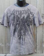 """Affliction """"Black Knight"""" medio Four Horsemen Grim Reaper Camiseta Nueva Camiseta UFC"""