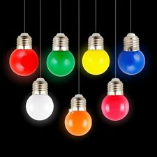 Mini Colorful 1W E27 AC 220V LED Light Round Lamp Globe Golf Bulb GTWUK