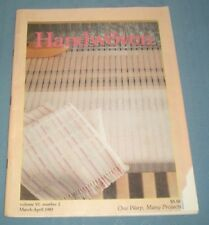 March April 1985 Handwoven Weaving Navaho Inpired Rugs Long Warps Blended Drafts