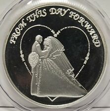 From this Day Forward 2016 Wedding Marriage .999 Silver Art Medal - 1 oz Round