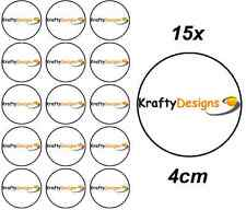 15x Premium Corporate Company Event Logo 4cm Rice Paper Cup Cake Toppers