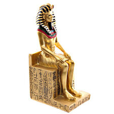 Ramesses the Second Egyptian Figurine - Seated on Hieroglyphic Throne -13cm Tall