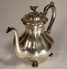 19C Antique Imperial Russian Silver Tea Coffee Pot J.Nordberg 1854 Large