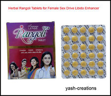 Herbal Rangoli Tablets for Female Sex Drive Libido Enhancer Women Health Care.