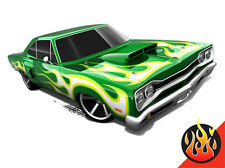Hot Wheels Cars - '69 Dodge Coronet Superbee Green