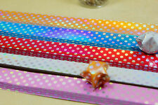 90 ORIGAMI LUCKY STAR LASER PAPER  - 5 colors comb with mini dots pattern