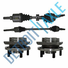 2 Front Driver and Passenger CV Axle Shaft + 2 Wheel Hub and Bearing Assembly