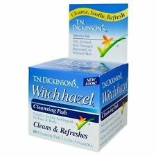 TN Dickinson's Witch Hazel 100% Natural Astringent Cleansing Pads 60 pads