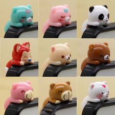 Lovely 1Pc Resin Cartoon Anti Dust Earphone Plug Stopper Cap For Cellphone 3.5mm