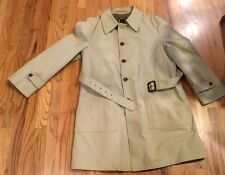 Vintage Mens Christian Dior Wool Lined Trench Coat Size 42R