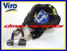 Catena antifurto VIRO 13 mm x 150 cm MOTO SCOOTER MAXI con lucchetto antitaglio