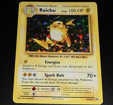 Raichu 36/108 XY Evolutions HOLO Rare Pokemon Card NEAR MINT