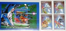 Guinea 1990 1273-76 bloque 347 a 1137-41 invierno Olympics 1992 albertville mnh