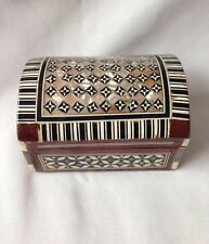 Wooden Jewellery Box With Pearl Mosaic