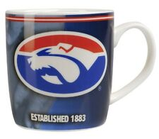 98893 WESTERN BULLDOGS AFL TEAM HISTORY CERAMIC BARREL COFFEE MUG IN BOX