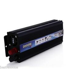 2000W Power Inverter DC 12V AC 220V Car Converter Electronic USB Port