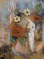 Pandora Odilon Redon griechische Mythologie Blumen Gestalt Frauen B A3 02940