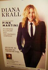 DIANA KRALL in Concert Show Poster Denver Co RED ROCKS August 12th 2015 COOL