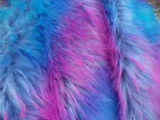 "WAVE RAINBOW TIDE DYE  FAUX FUR FABRIC #7  60"" UPHOLSTERY FABRIC BY THE YARD"