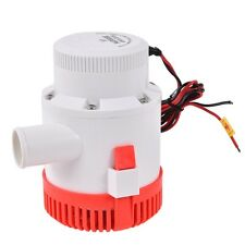 "3500 GPH 12V 12A Electric Bilge Pump Marine Boat Yacht Submersible 1-1/2"" Hose"