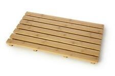 Rectangular Bamboo Natural wood Slatted Duckboard  Shower Mat Duck Board Bath