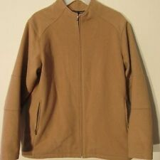 V7440 Patagonia Beige Wool Blend Zip Up Classy High Grade Jacket Women's Size L