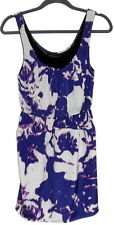 Anthropologie SILENCE & NOISE PURPLE MINI DRESS Sz XS Floral Urban Outfitters