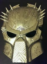 Adults Mens Boys Gold Predator Mask Fancy Dress Alien Halloween Cosplay Helmet