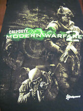 L black CALL OF DUTY MODERN WARFARE 2 t-shirt - VIDEO GAME