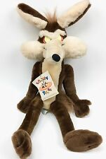 """Vtg Looney Tunes Wile E Coyote Plush 24"""" Stuffed Ace 1994 1995 Hang Tag Warner"""