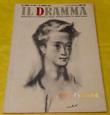 IL DRAMMA 1950 n. 107 - Copertina Carlotti - Opere: vedi inserzione