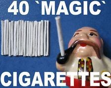 40 MAGIC TRICK CIGARETTES BLOW SMOKE RINGS OLD SMOKER SMOKING TRICK MONKEY TOY