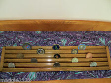 Military Challenge Coin Display Holder 5 Tiers - 2 footer -Walnut Stained
