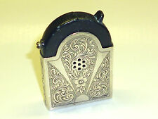 "KASCHIE ""K37"" AUTOMATIC LIGHTER - 900 SILVER CASE (KARL SCHIEDER) -1936 -GERMANY"