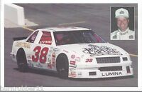 "1994 BABE BRANSCOMBE ""RACING CAPITAL ON TRACK"" #38 NASCAR BUSCH NORTH POSTCARD"