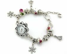 Watch Style Charm Bracelet Fit European Bead 20cm Free Ship WN019
