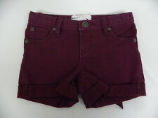 Roxy Kids Sz 5 Medium Denim Shorts TW Lisy Patch Grape wine