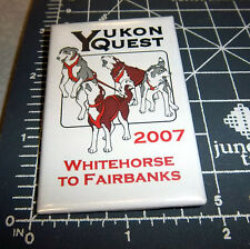 Alaskas Yukon Quest 1000 mi Dog Sled Race 2007 collectors button, very nice