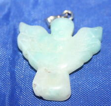 Jade Amazonite Crystal Angel Pendant Reiki Charged, Blessed in Lavender Bag