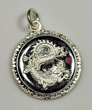 Chinese Dragon Zodiac sign Pendant ARIES Sterling Silver 925 Ruby charm Jewelry