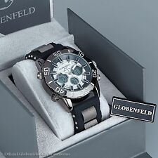 BRAND NEW GLOBENFELD V12 WHITE ANALOG/DIGITAL DESIGNER MENS WATCH  SRP £435