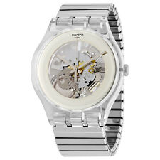 Swatch Originals Silver Skeleton Dial Mens Watch SUOK105FB