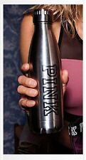 Victoria's Secret SILVER Grey Metal Water Bottle SUPER CUTE Gym Sport LOGO