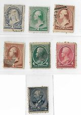 1882 - 88 UNITED STATES PERF 12 A.B.N.C. GROUP OF USED  STAMPS 1 CENT TO 5 CENTS