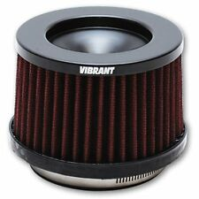 """Vibrant Short Turbo Inlet Filter - 4"""" In x 5""""OD x 4.63""""H (4.25"""" Overall) #10931"""