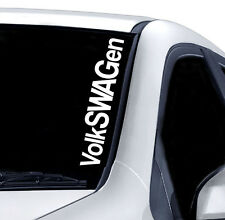 VOLKSWAGEN WINDSCREEN STICKER CAR PAINTWORK STICKER VINYL JDM DRIFT 4x4