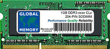 1GB DDR3 1066MHz PC3-8500 / 1333MHz PC3-10600 204-PIN SODIMM MEMORY FOR LAPTOPS